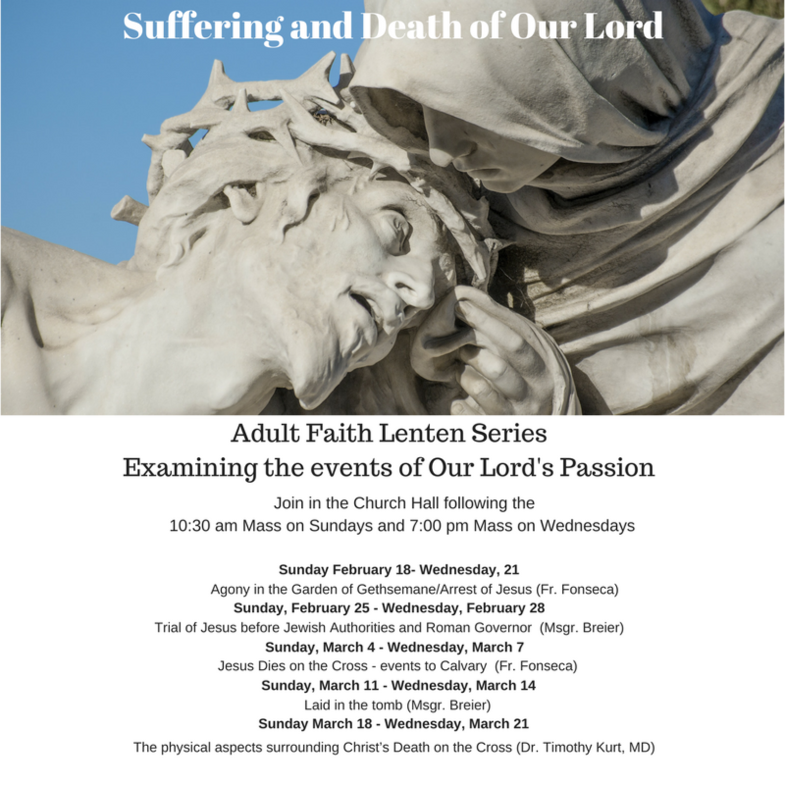 Lenten Series Suffering And Death Of Our Lord