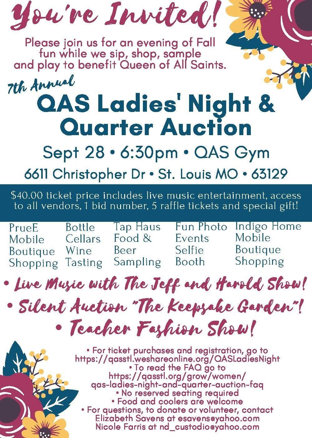 Ladies Night And Quarter Auction Invitation