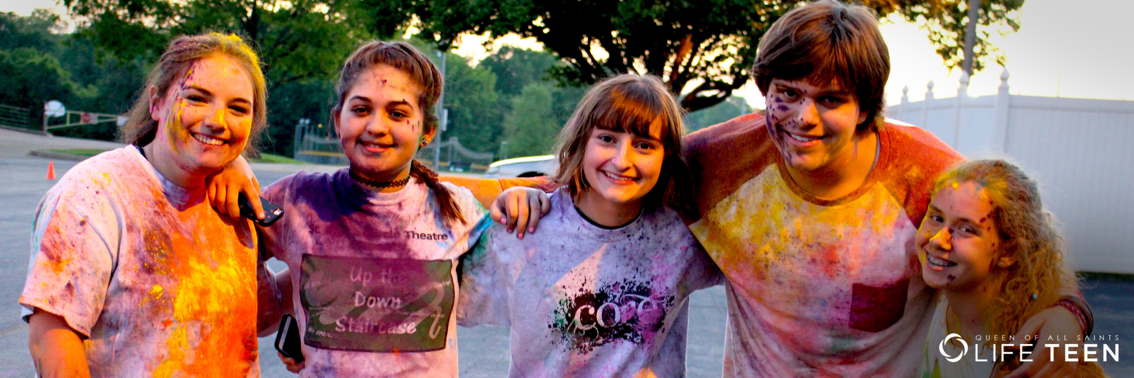 Queen of All Saints Life Teen St Louis Colour Run